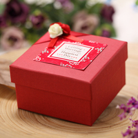 Custom unique empty paper folding wedding candy box for sale