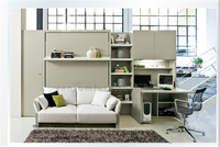 Hot murphy bed with storage transformable twin full queen king size with bookshelves vanrom furniture