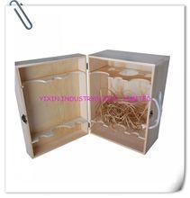 Timber Pine Wooden Wine Case For 2 Bottles YIXING3819