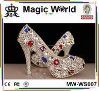 DIAMOND CRYSTAL JEWELED WOMEN WEDDING BRIDAL SHOES