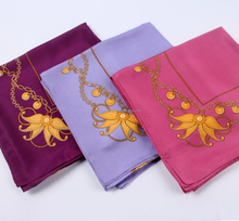 habotai silk scarves with three different colors for option
