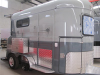 2 horse trailer with two axles for camping