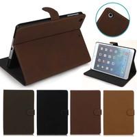 Retro Design business style Leather Case for ipad mini 1 2 3, for ipad mini 1 2 3 stand case