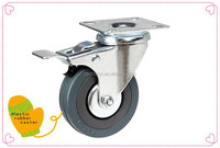 Rubber Caster and wheels With Brake