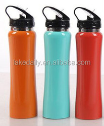 500ML promotional gift ss sports drinking bottles with straw