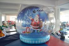 Natal inflável tenda bolha inflável de natal cúpula