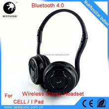 Handy Foldable Stereo Wireless Headset, hands free headphone for Cell Phone bluetooth headset