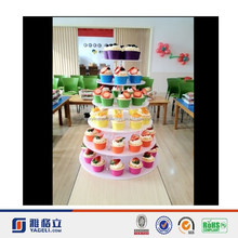 Multi-layer Acrylic cake display stand & luxury acrylic cake display