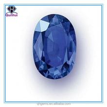 Charm blue oval shaped cz necklace 2012 fashion