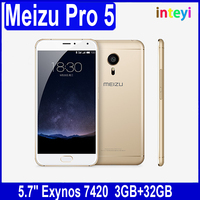 Original Meizu Pro 5 Mobile Phone 5.7inch FHD Gorilla Glass 3 Exynos 7420 Octa Core Android 5.1 Cell Phone Fingerprint ID