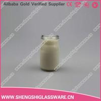 50ml mini clear glass milk bottle glass bottle for beverage