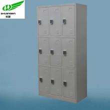 Customzied design modern storage stainless steel locker/digital lock 9 door stainless steel locker