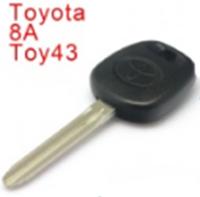 Hot sale transponder key for toyota H chip key with logo transponder car key blank