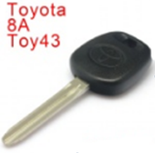 Hot sale transponder key for toyota H chip key with logo transponder car key blank
