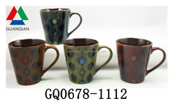 Liling manufacturer screen printed ceramic mug reactive glaze and lead free