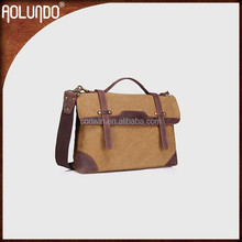 The latest fashion leather canvas briefcase