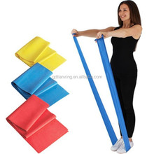 Flat Stretch Latex Exercise Bands with Door Anchor and Exercise Manual