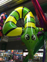 animal model inflatable air snake balloon inflatable foil balloon material