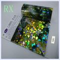 Venta caliente 5201 # roken-glass lámina de estampación en caliente para tela