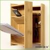User-friendly bamboo letter holder key rack - HOMEX