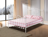 Customization Design Wrought iron double bed