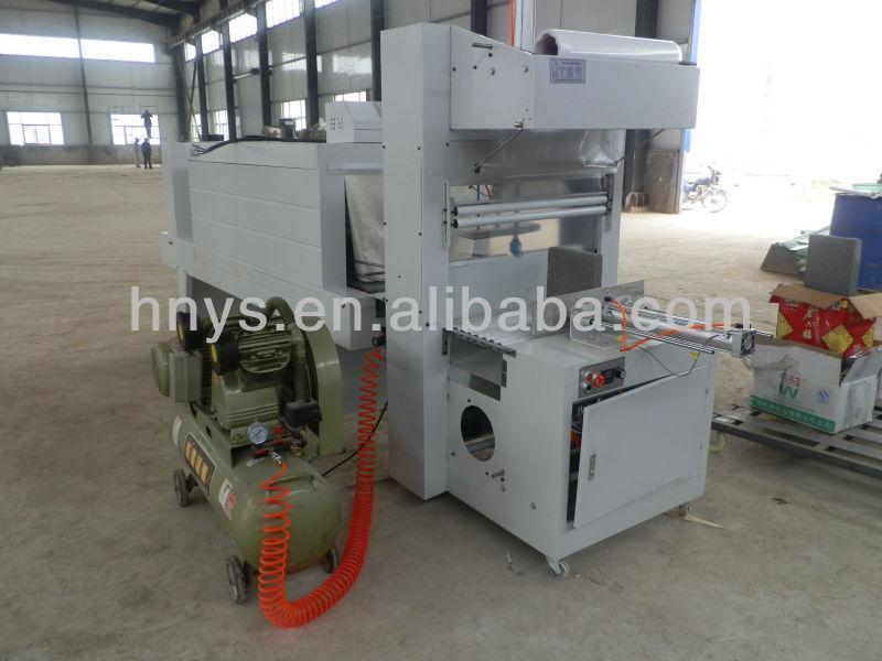 PE film semi automatic PE film shrink sleeve label printing machine for floor board