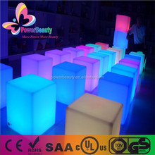 plastic led cube chair,LED chair light; Wonderful Chair LED cube light,magic change color light small seat
