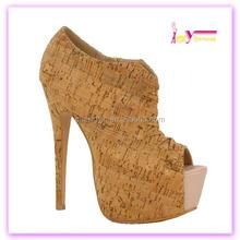 China wholesale sexy high heel women' fashion comfort open toe ladies shoe