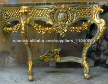 Venetian Style Antique Gilded Crackle Console