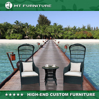 Rattan Table and Chair Used Outdoor Hotel Furniture
