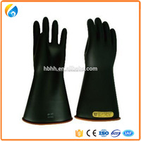 Electric Rubber Insulating Gloves with Average Size
