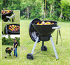 Vertical charcoal bbq grill