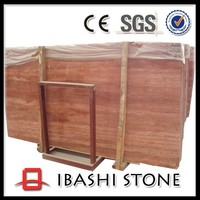 Natural high polished red travertine