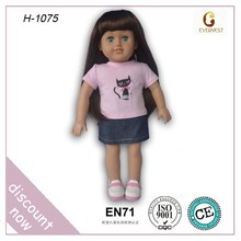 2015 beautiful pink american dolls/OEM safety american girl doll factory/newest lifelike nude american girl doll
