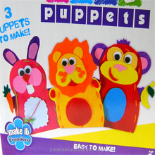 New GRAFIX Make Your Own Felt Hand Puppets, Monkey & Lion & Rabbit Simple Sewing Hand Puppets