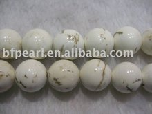 16 inches 18 mm natural white turquoise beads