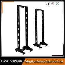SPCC floor standing two post open frame 19'' rack 42u