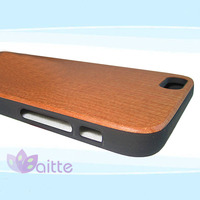 Mobile accessories laser engraving custom design Plastic wooden cell phone case for iphone 6 plus with factory price