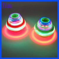 led ufo musical lighing spaceship spinning flash top toy