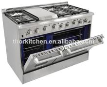 china Mainland Machinery 6Burners gas cooker/gas oven/gas stove with grill