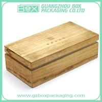 logo engraved customized pinewood box