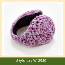W-2920 winter knitted earmuffs crochet ear muffs hand knit ear covers for winter