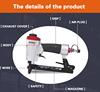 light die cast body air nail gun machine by air compressor