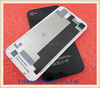 For iPhone 4 4G Compatible Back Glass Rear Door Battery Cover Replacement black