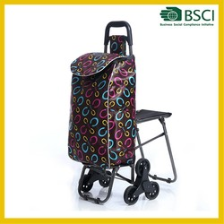 Best Quality Folding Shopping Cart shopping trolley bag with seat