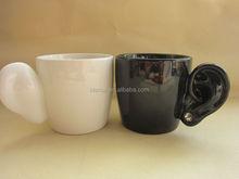 ceramic couple mug with ears