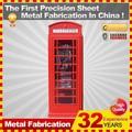 2014, espejo de pared de metal público el teléfono antiguo londres decoración roja de stand para la venta