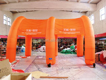 orange inflatable finish line arch for advertising