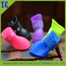 Hot selling dustproof waterproof silicone dog shoes Pet Dog Puppy Mesh Shoes