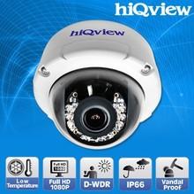 Low Temperature Full HD Outdoor IR-15M Vandal Proof Dome IP Camera